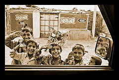 Winner at ASAHI SHIMBUN (Divs Sejpal) Tags: life people india window monochrome car portraits children happy village faces asahi smiles expressions happiness winner win goldmedal gujarat kutch kachchh divs divyesh shimbun divssejpal sejpal asahishimbun tatasierra internationalcomptetition