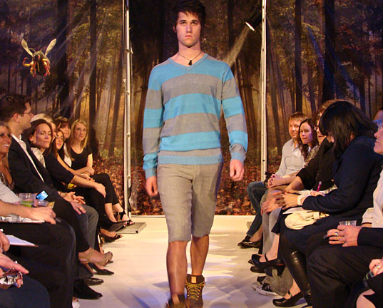 PED Runway Show: Men's Striped Sweater and shorts by Covet
