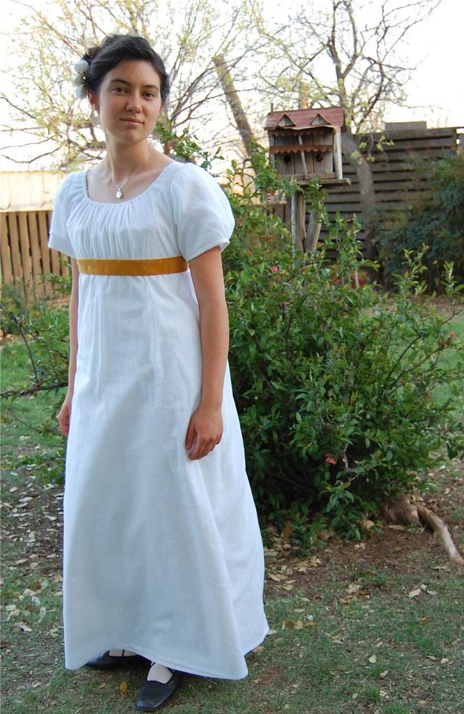 Jane Austen Sheer white Regency dress 3