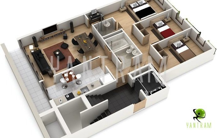3D floor plan, floor plan design, virtual tour floor plan, 3d floorplans, 3D Floor Plan designer