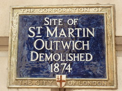 Photo of St. Martin Outwich blue plaque