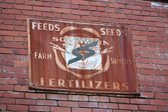 Southern States sign, downtown, Fairmont, WV (instereowhereavailable) Tags: sign ss seeds advertisement wv fairmont oldsign feeds metalsign rustysign southernstates fertilizers farmsupplies steelsign