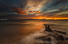 Burning Skies (.Brian Kerr Photography.) Tags: longexposure sunset sea sky seascape clouds canon landscape rocks cumbria solway silloth criffel dumfries galloway eos5dmkii