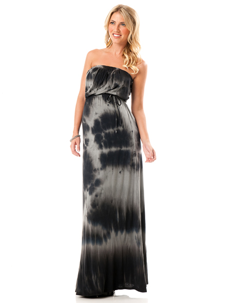 Loveappella Strapless Empire Seam Maternity Dress