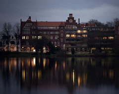 Luebeck (*Perikita) Tags: nightphotography reflection building lights searchthebest luebeck canoneos5d