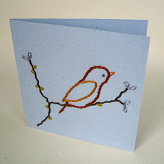 embroidered card (elevencupcakes) Tags: paper craft card