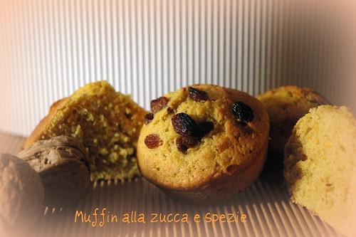 Muffin alla zucca e spezie