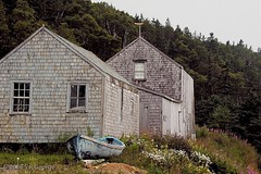 Dry dock (Thatsanotherdory) Tags: blue building architecture barn landscape boats flora novascotia scenic valley annapolis dory muted dories mutedcolor oldandbeautiful