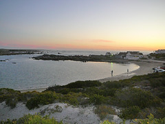 Fishing in Jacobsbaai (Web Design Cape Town) Tags: houses sunset sea sky plants beach nature water car clouds landscape southafrica boats fishing fisherman sand rocks village capetown vegetation coastline westcoast jacobsbaai rockyoutcrops fishermanscottages limewashedhouses