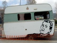 caravana (nadie en campaña) Tags: barcelona streetart stencil política caravana plantilla nadie