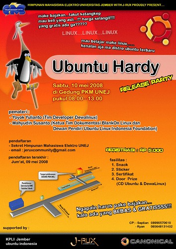 Ubuntu Hardy Rilis Party Poster (RC_1)