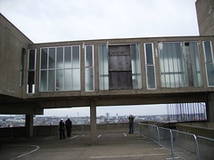 part of the rooftop restaurant area forming a walkway to the lift in the north-east corner