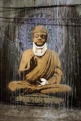Wounded Buddha (Luke Robinson) Tags: uk streetart london art graffiti tunnel exhibit waterloo 200 2008 artfestival cansfestival thecansfestival
