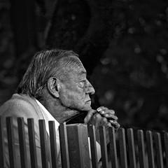 Far away... (* Ahmad Kavousian *) Tags: old bw man bravo explore deepinthought themoulinrouge firstquality explored explore93 behindfences artlibre thegardenofzen beeninexplorepage beeninflickrexplorepage