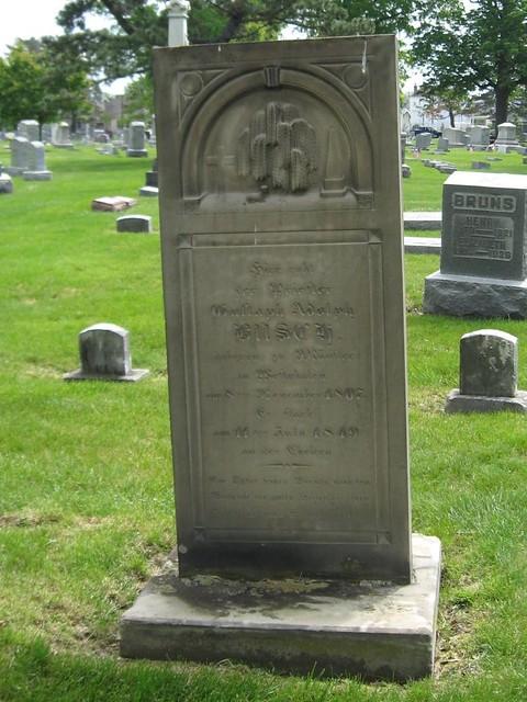 Grave of Gustaph Busch - died July 1849 of cholera by elycefeliz
