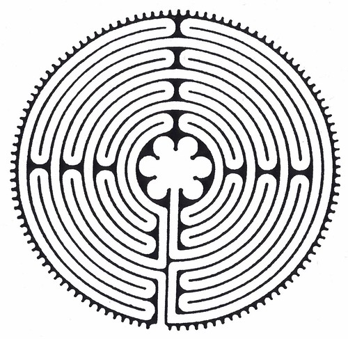 medieval labyrinth chartres cathedral france