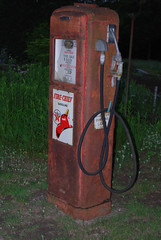Antique Gas Pump (Cazwell) Tags: auto old station sign metal fire cool rust sale antique connecticut tag ct gas pump business cents penny motor meter lead cheap fuel unleaded gallon gilbarco