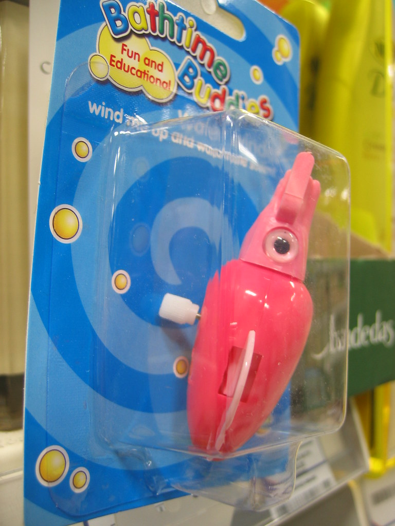 Playful bathtime squid!