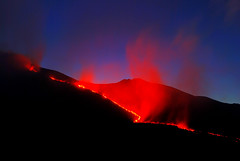 Etna's Eruption 2008 (Giuseppe Finocchiaro) Tags: red italy night fire volcano lava nikon italia sicily rosso etna eruption sicilia fuoco vulcano eruzione abigfave anawesomeshot diamondclassphotographer flickrdiamond theperfectphotographer goldstaraward absolutelystunningscapes regionalgeographicsicilia nikonflickraward