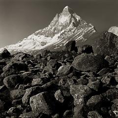 Shivling-Tapovan (jameshervey) Tags: blackandwhite bw india mountains hills alpine uttaranchal himalaya himalayas garwhal kumaon shivling tapovan uttarkhand indianhimalayas devbhoomi
