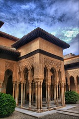 Alhambra (Andrew E. Larsen) Tags: blue sky detail architecture clouds alhambra granada digitalrebelxt islamic papalars andrewelarsen