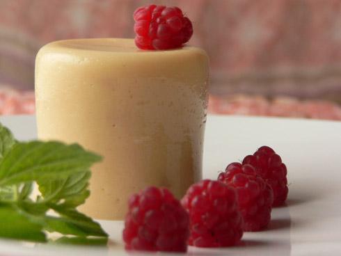 Pfirsich-Buttermilch-Gelee