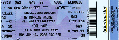 ticket stub My Morning Jacket