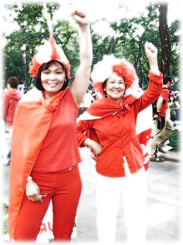 Austrian Soccer Fans from Asia