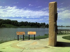 Carter Lake near Omaha Airport