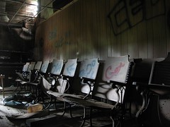 inside summer school (mereshadow) Tags: summer rural illinois grafitti 2008 oneroomschoolhouse bondcounty sorentoroad koolowlhoovess
