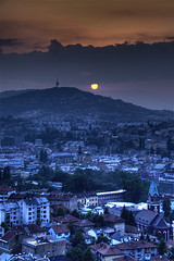Sarajevo sunset (wili_hybrid) Tags: sarajevo bosnia sunset city landscape sun interestingness151 exterior outdoor outside europe european 2008 year2008 geotagged geotag june summer urban travel trip vacation journey holiday nikon nikond200 d200 outdoors interesting popular explore flickrexplore flickr photo wikipedia yahoo picture pic photos