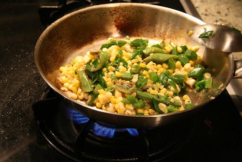 favas and corn