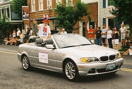 Mayor Larry Smith at New Market Fourth of July Parade