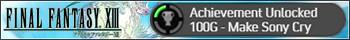 Achievement Unlocked - Make Sony Cry