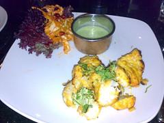 Lahori fish tikka starter at Khushi's Indian Restaurant, Edinburgh