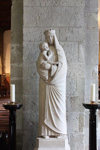 Statue in Margam Abbey
