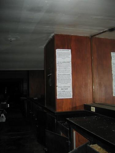 Notice to bartenders in the Wedgewood Room