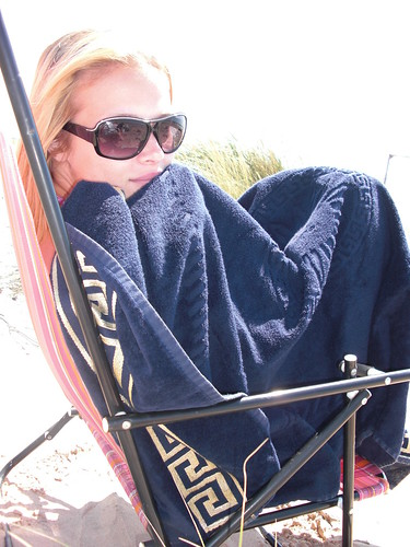 florida girl was cold at the beach