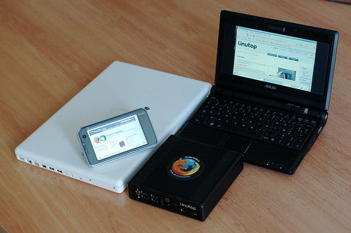 N810, Linutop 2, eeePC, MacBook