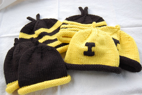 black and gold hats