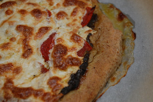 Caprese Pizza with whole wheat crust