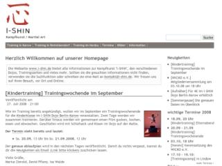 www.i-shin.de in der normalen Version