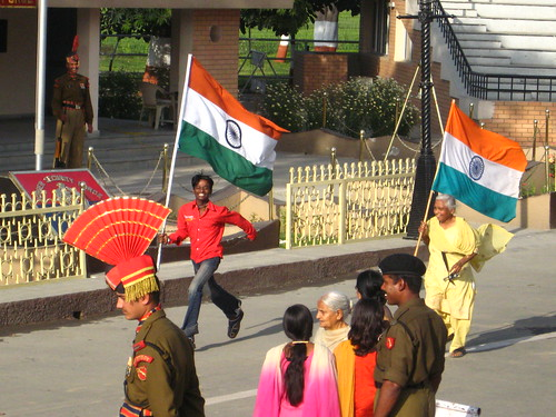 world flags border. Flying the Indian Flag - Wagah
