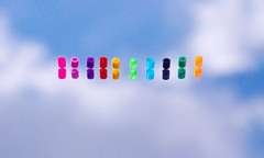 Rainbow Beads (Youxia) Tags: pink blue red sky orange abstract black colour reflection green clouds beads rainbow purple indigo bluesky mauve youxia d80