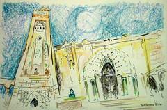 Morocco Postcard Mosque Hassan II