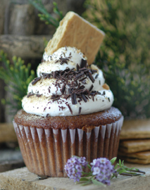 Vegan s'mores cupcake from Vegan Cupcakes Take Over the World