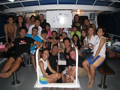 Happy Divers onboard MV White Manta on the Whale Shark Weekend!