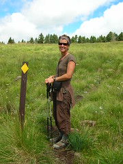Ann in the Meadow (Upper Frijoles Crossing, New Mexico, United States) Photo
