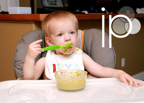 Ethan actually eating...