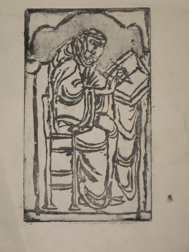 Edwarde the Scribe from the Canterbury Psalter